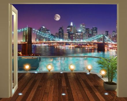 Brooklyn Bridge NYC Wallpaper Mural